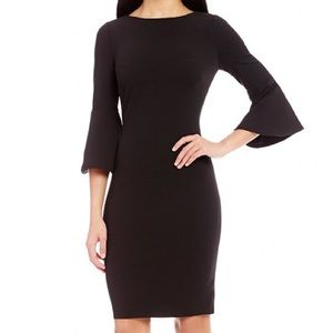 Calvin Klein Black Peplum Sleeve Dress